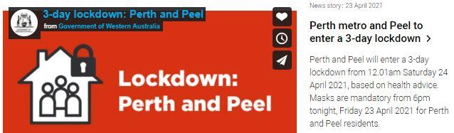 3-day snap lockdown in Perth